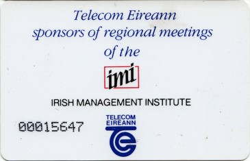 Irish Management Institute (IMI) Conference 1989 20u Back