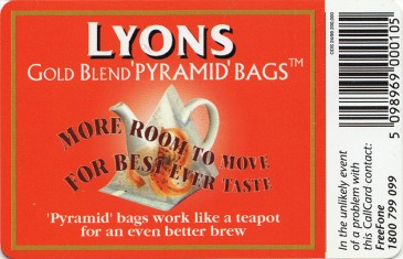 Lyon's Tea Back
