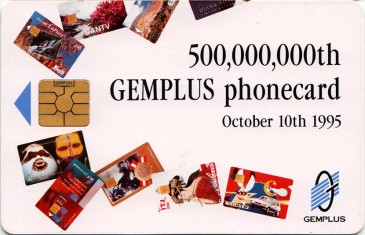 Gemplus 500 Million Promotional Card