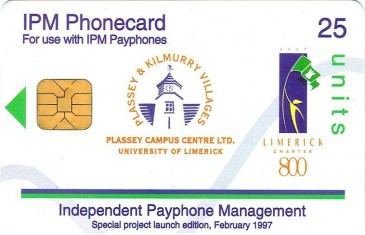 University of Limerick campus phonecard