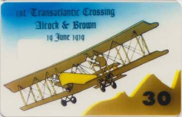 Alcock & Brown prototype card