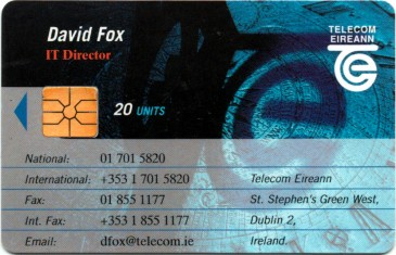 David Fox - Telecom Eireann Business Card