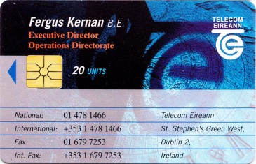 Fergus Kernan - Telecom Eireann Business Card