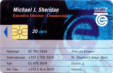 Michael J. Sheridan - Telecom Eireann Business Card