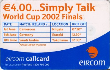 Gary Kelly - World Cup 2002 Back