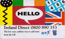 Ireland Direct BT Phonecard