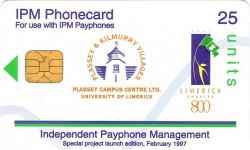 University of Limerick campus phonecard