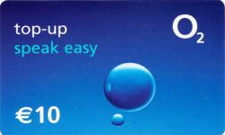 O2 Speak Easy top-up card