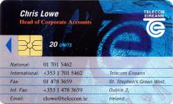Chris Lowe - Telecom Eireann Business Card