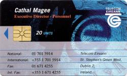 Cathal Magee - Telecom Eireann Business Card