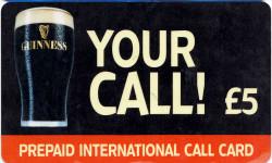 Guinness Prepaid Phonecard