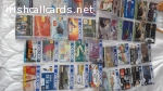 Selection of used but mint cards